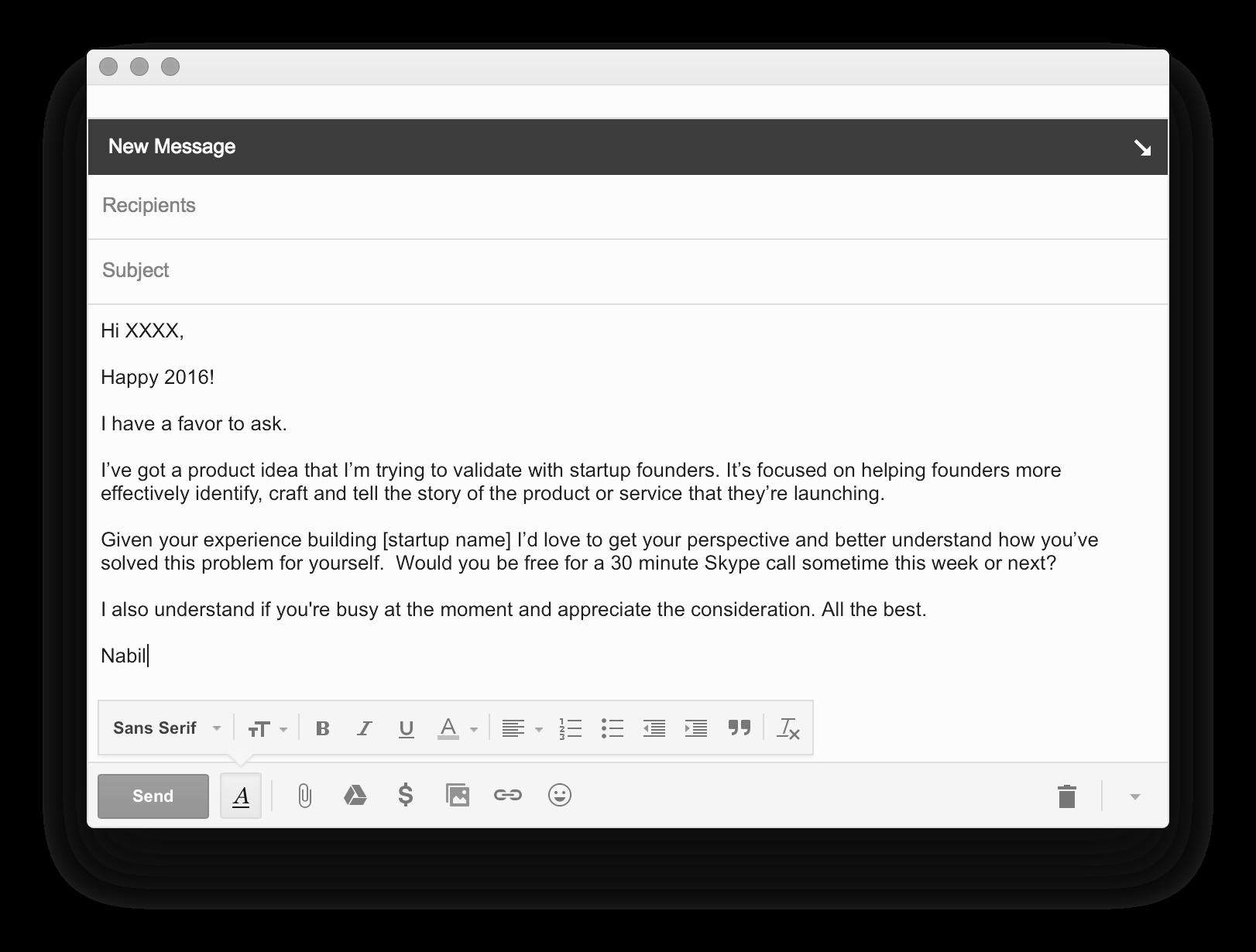 Invite Email Screenshot